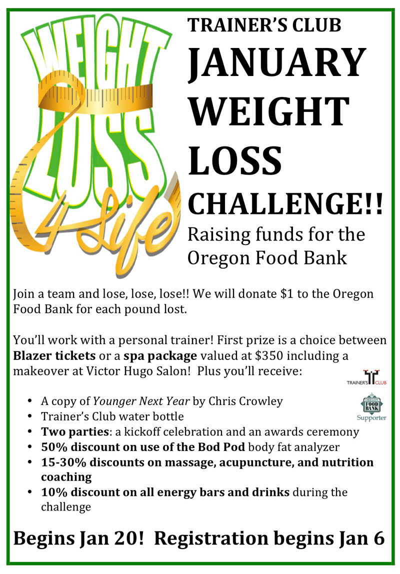 WEIGHT LOSS CHALLENGE 2015 - RAISING FUNDS FOR THE OREGON ...