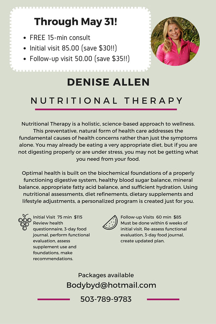 Denise Allen NTP Initial discounts May 2016