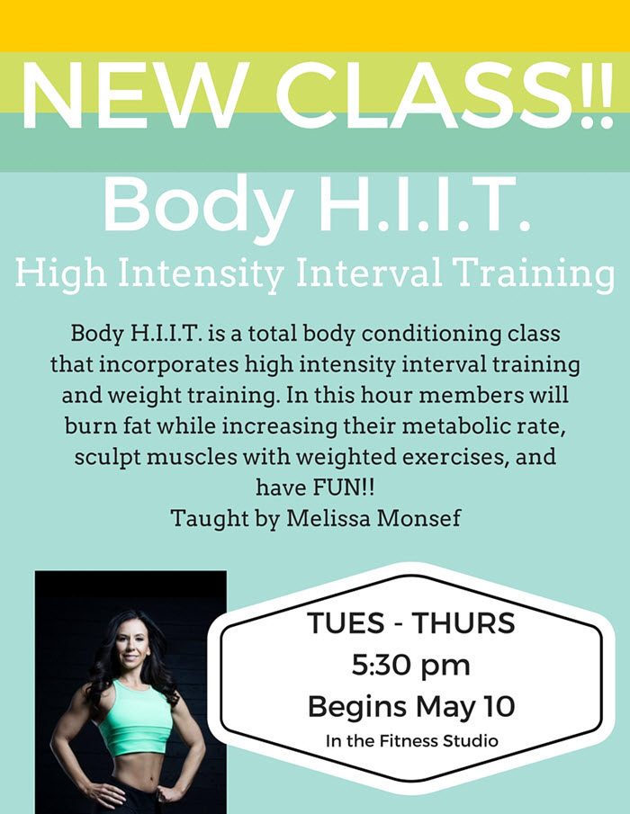 New Class HIIT poster