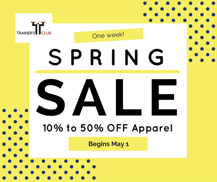 Spring sale May 1 2016