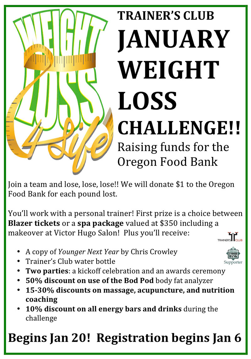 Trainer's Club Weight Loss Challenge - Trainers Club