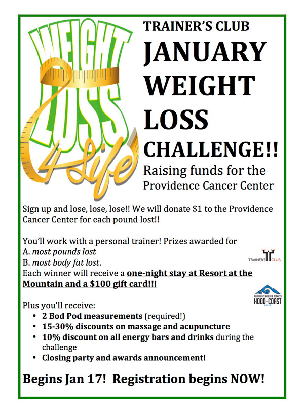 JANUARY WEIGHT LOSS CHALLENGE!! - Trainers Club